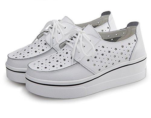 Frühling und Sommer Damen Offene Zehen Riemenschnalle Metallfarbe Einfache Moderne Slippers Römische Sandalen Weiß