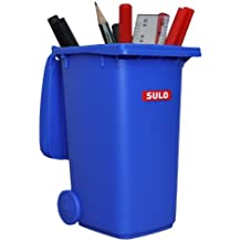 Wheelie bin SULO 120 L Grey-Red lid 22159 household waste container recycling bin selective sorting