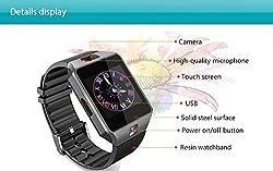 iTontek® DZ09 Bluetooth Smart Watch Wrist Wrap Camera Sport Gym Running Pedometer Activity Tracker Sedentary Reminder Calendar Remote Sleep Monitor for iPhone Samsung HUAWEI Android Phones - Black