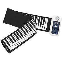 Mkxiaowei 88 Teclas Piano, Piano de 66 Teclas, enrollados a Mano Piano electrónico,