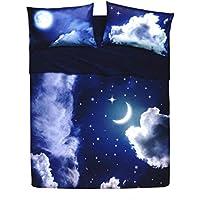 Bassetti–Juego completo de sábanas de la colección Sweet Moon. Disponible en varios tamaños Q027