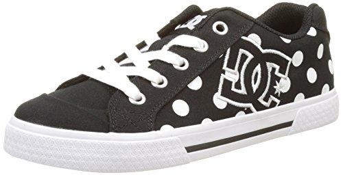 dc-shoeschelsea-tx-se-zapatillas-mujer-negro-noir-black-white-print-36-eu