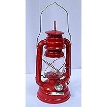Nostalgia Farol, Tormenta Linterna Fuego Rojo, Retro Lámpara De Petróleo