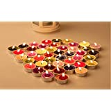 TEALIGHT Candle Set Of 25 Pcs. Of Candles In Multi Color