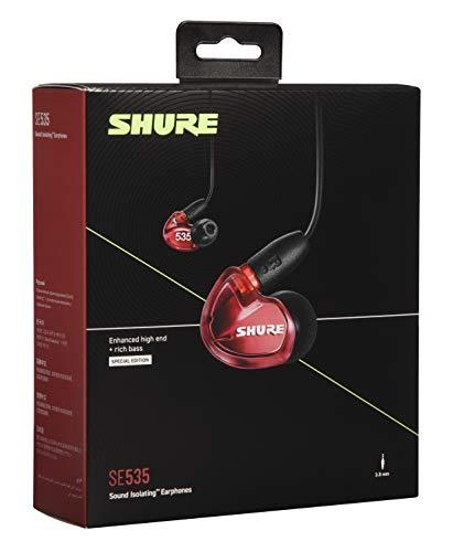 Shure SE535 In Ear Kopfhörer mit Sound Isolating Technologie, 3, 5-mm-Kabel, Fernbedienung und Mikrofon - Premium Ohrhörer mit warmem & detailreichem Klang - Limited Edition Rot - 4
