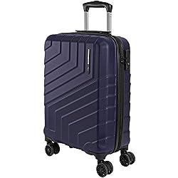 Valise Trolley Voyage Rigide - Ryanair et Easyjet 55x40x20 cm 44 litres - Bagage à Main de Cabine Ultra Légèr en ABS avec Serrure TSA et 4 roulettes Doubles Pivotantes - Perletti Travel (Bleu, S)