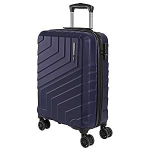 Maleta de Mano Rigida – Aprobada para Ryanair y Easyjet 55x40x20 cm – Equipaje de Cabina Ligero ABS – Trolley de Viaje Cerradura TSA y 4 Ruedas Dobles Multidireccionales – Perletti Travel (Azul, S)