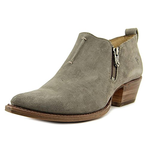Frye Sacha Moto Shortie Daim Bottine Dark Grey