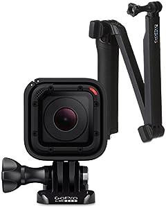 GoPro HERO Session Actionkamera (8 Megapixel, 38 mm, 38 mm, 36,4 mm) + GoPro 3-Wege Halterung (Schwenkarm, Griff, Stativ, Rändelschraube)