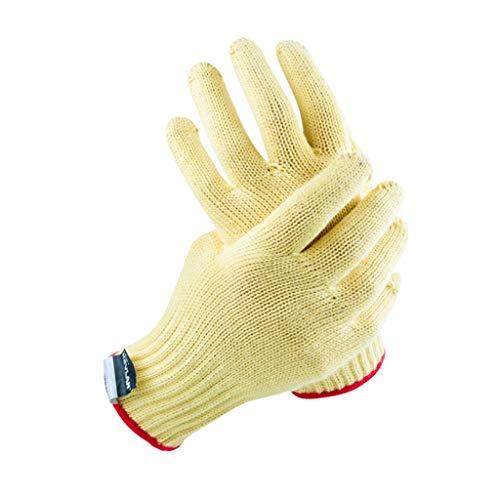 NJ Handschuh- Verdickte Grade 3 Fiber Cut Resistant Handschuhe (Farbe : Beige, größe : L:23.5cm W:8cm)