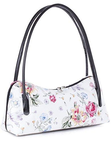 Big Handbag Shop , Sacoches femme White Floral - Black Trim