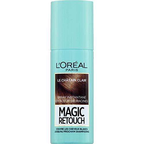 L'Oréal Paris - Spray Instantané Le Châtain Clair Magic Retouch - 75Ml - Lot De 2 - Livraison Rapide en France - Prix Par Lot