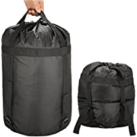 Compression Sack,CAMTOA Stuff Sack/Lightweight Compression Nylon Bag With Drawstring & 4 Compression Straps For Clothing,Duvets,Sleeping Bag, Pillows,Curtains,Traveling,Outdoor Camping Approx.24L(Max)