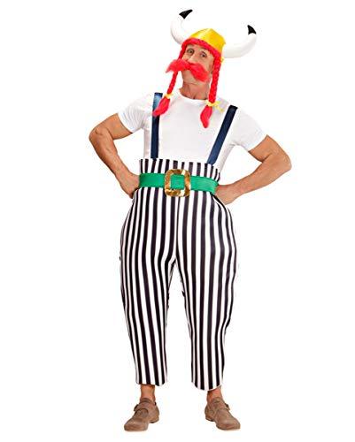 Horror-Shop Dicker Gallier Kostüm Set L (Buschigen Bart Kostüm)