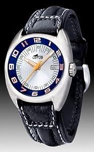 Reloj Lotus de caballero esfera blanca de 40 mm W.R. 50 metros