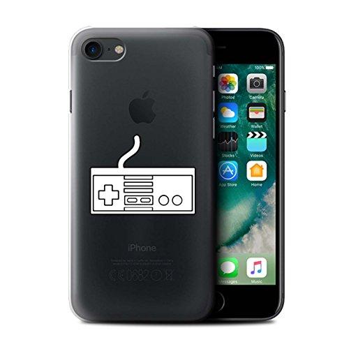 Stuff4 Hülle / Case für Apple iPhone 7 / Weiß SNES Muster / Spielsteuerung Kollektion Weiß NES