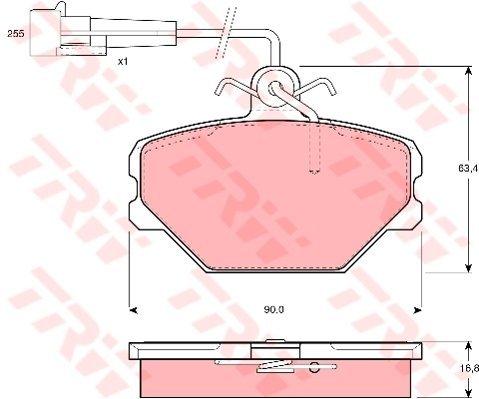 TRW Automotive AfterMarket GDB833 Kit Pastiglie Freno, Freno A Disco