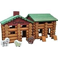 ab 10 Jahren Blockhaus mit Dachkonstruktion Holz Bausatz Kinder Werkset