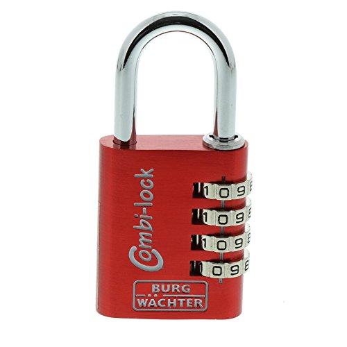 BURG-WÄCHTER Verstellbares Zahlenschloss, 6,5 mm Bügelstärke, 4 Zahlenrollen, Combi Lock 88 40 Fun SB,Farbe sortiert