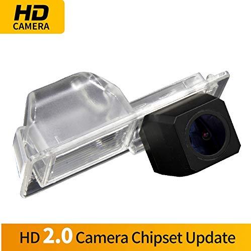 Farb Rückfahrkamera integriert in die Nummernschildbeleuchtung LED Kennzeichenbeleuchtung Kamera mit Distanzlinien für Chevrolet Aveo Trailblazer Cruze/Opel Mokka/Cadillac SRX, Cts