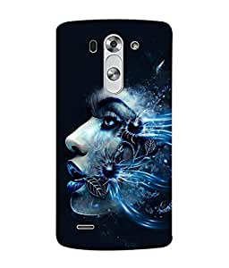 PrintVisa Floral Facet 3D Hard Polycarbonate Designer Back Case Cover for LG G3 S :: LG G3 S Duos :: LG G3 Beat Dual :: LG D722K :: LG G3 Vigor :: LG D722 D725 D728 D724