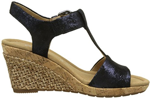 Gabor Comfort, Sandales Bout Ouvert Femme Bleu (ocean Grata)