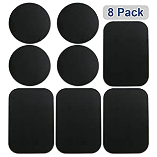 L JENSEN 8pcs Metal Plates Sticker Car Mount Replace Metal Adhesive Plate For Magnetic Phone Car Holder Super Thin Steel Insert Plate