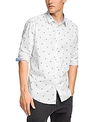 Esprit 105EE2F035 AOP LS Shirt-Camisa Hombre,