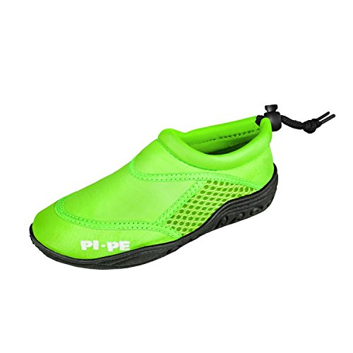 PI-PE PI-PE Active Badeschuhe Kinder Jungen und Mädchen Aquashoes Schwimmschuhe (Grün, 32)