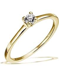 Goldmaid Femme  14carats (585/1000)  Or jaune #Gold Balle   Blanc Diamant