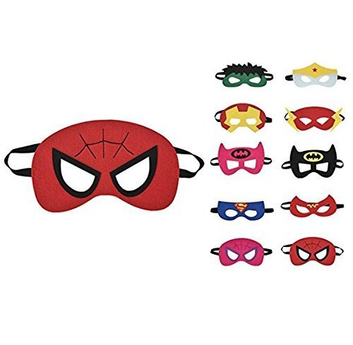 thematys Kinder-Masken Superhelden Maske 10er Set - perfekt -