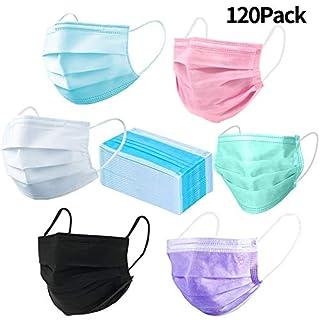 120 Stück BESTZY Mundschutz Maske Einwegmasken mit Chirurgische Staubfilter Ohrschleife Gegen Salon Nase Mund Grippe Virus Gesichtsmaske Atmungs Staubfilter Abdeckung Masken