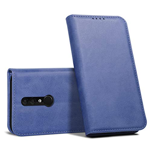 iHOY Alcatel 3 2019(5053Y 5053D 5053K) Hülle, Flip Case Leder Handy Hülle Brieftasche Flip Lederhülle Schutzhülle [Versteckt Magnet] Hülle für Alcatel 3 2019(5053Y 5053D 5053K)