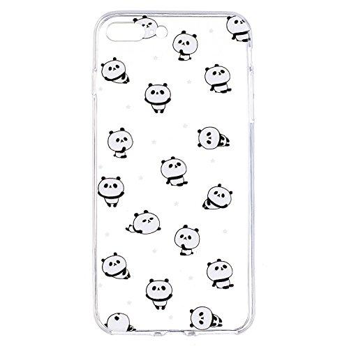iPhone 7 Plus Coque, Voguecase TPU avec Absorption de Choc, Etui Silicone Souple Transparent, Légère / Ajustement Parfait Coque Shell Housse Cover pour Apple iPhone 7 Plus 5.5 (Hamburger 01)+ Gratuit  Panda 12