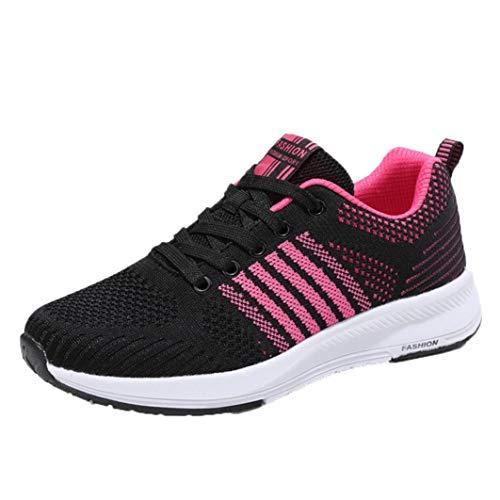 Logobeing Zapatillas Deportivas de Mujer - Zapatos Sneakers Zapatillas Mujer Running Casual Yoga Calzado Deportivo de Exterior de Mujer 35-40 (39, Rosa-5759)
