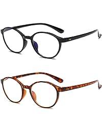 VEVESMUNDO Lesebrillen Anti blaulicht Damen Herren Computer Lesebrille Augenoptik Flexibel Lesehilfe Sehhilfe Arbeitsplatzbrille Anti Blue Rays Leser Brille Schwarz Leopard