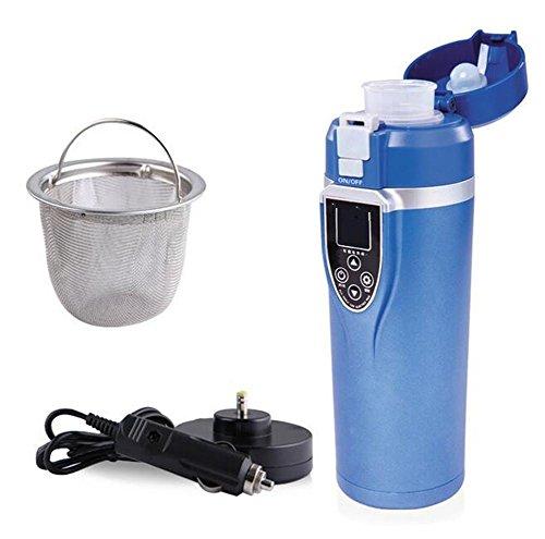 GO&CAR Auto Hot Cup beheiztes Wasser kochendes Wasser 100 Grad Reisen Kaffee Tee Milch elektrisches Geschenk 12 Volt , blue (Kühlschrank Thermostat Steckdose)