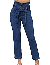 Kasen Mujer Vaqueros De EláSticos Pantalones Cintura Alta Jeans 29e4a8665c8f