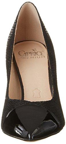 Caprice 22407, Escarpins Femme Noir (Black Rept Com)