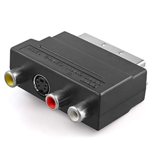 LouiseEvel215 RGB zu Composite Cinch SVHS S-Video AV TV Audiokabel Adapter Schalter 3 x Cinch/Cinch Buchse + S-Video Buchse zu Stecker