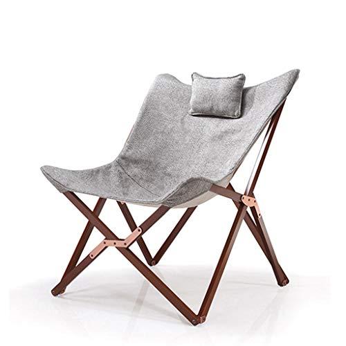 LYQZ Chaise Pliante pour Chaise de Jardin Terrasse Terrasse Pause-déjeuner Chaise Longue extérieure en Bois Massif