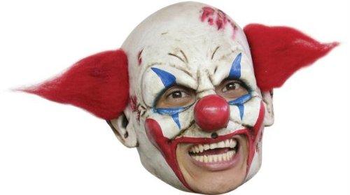 aske Gesicht Maske Over-the-Head-Maske Kostüm Stütze Scary Creepy Schreckliche Maske Latex Maske Clown Maske mit Rot Haar für Maskerade Make-up Party (Creepy Clown Make Up)