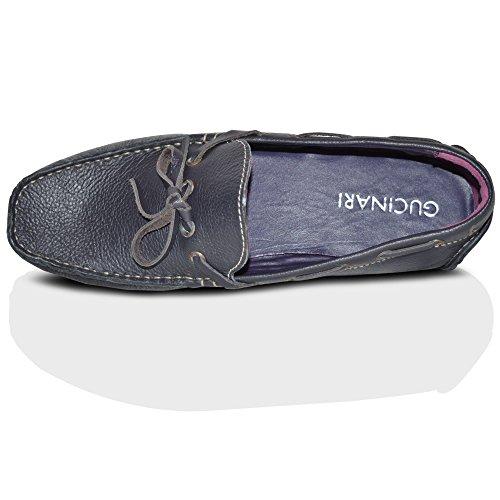 Chaussure de Conduite Hommes Neuve À Enfiler 100% Cuir Mode Mocassins Chaussures Décontractées Pointure RU Violet À Enfiler