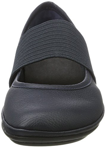 Camper Right Nina, Ballerines Femme Bleu (Blue 104)
