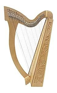 Celtica Irlandese Arpa 27Corde incl tasche con mezza Ton klappen, Legno di Faggio