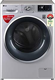 LG 9 Kg 5 Star Inverter Wi-Fi Fully-Automatic Front Loading Washing Machine (FHT1409ZWL, Luxury Silver, Steam)