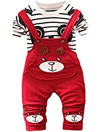 Logobeing Conjunto de Ropa Bebe Niño Pequeño Niños Bebés Niñas Panda  Imprimir Tops + Pantalones Trajes 3a4d2fbaeee