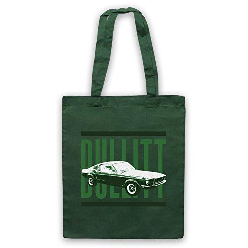 Inspiriert durch Bullitt Ford Mustang Car Inoffiziell Umhangetaschen Dunkelgrun