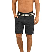 cf0c94e7c3d4 Indicode Herren Cuba Chino-Shorts Kurze Hose mit Gürtel aus 100% Baumwolle