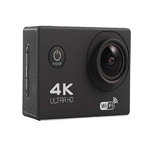 Sportkamera, 4K Sport wasserdichte Kamera mit WiFi HDMI 170 Grad Weitwinkel 2.0 HD LCD-Bildschirm 1600W Sport im Freien Unterwasserkamera Zubehör-Set (Color : Black) -